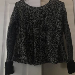 American Eagle Black and White Knit Sweater